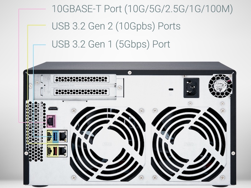 QNAP TVS x72X - QNAP TVS-672X et TVS-872X : Intel i3, 8 Go de RAM, 10 GbE, HDMI 2.0, PCIe...