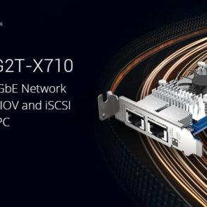 QXG 10G2T X710 293x293 - QNAP QXG-10G2T-X710 : carte réseau double 10GbE