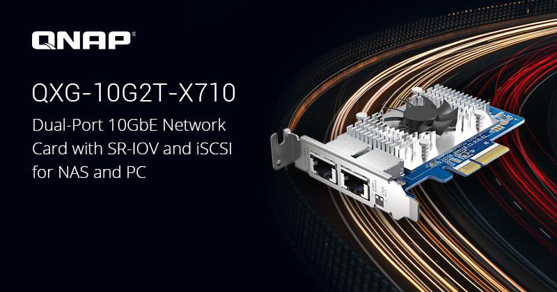 QXG 10G2T X710 - QNAP QXG-10G2T-X710 : carte réseau double 10GbE