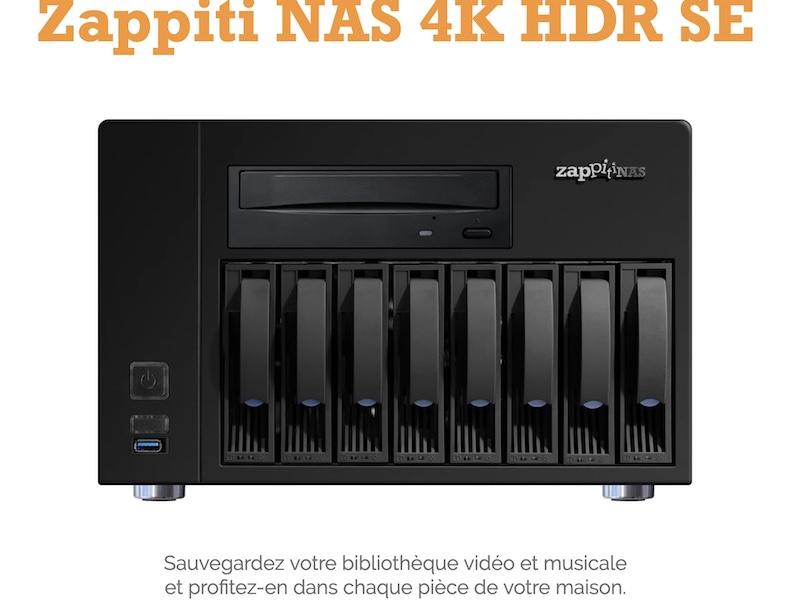 Zappiti NAS 4K HDR SE - Zappiti lance un nouveau NAS 4K HDR SE