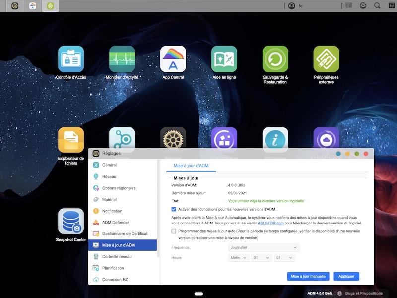 asustor adm 4 - Asustor ADM 4.0 est disponible en Bêta : interface améliorée, mises à jour de nombreux modules...