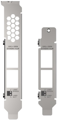 brackets QXG 10G2T X710 - QNAP QXG-10G2T-X710 : carte réseau double 10GbE