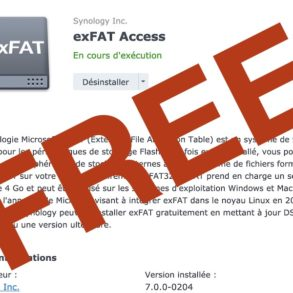 exFAT Access gratuit 293x293 - Synology DSM 7.0 - exFAT est désormais gratuit pour tous