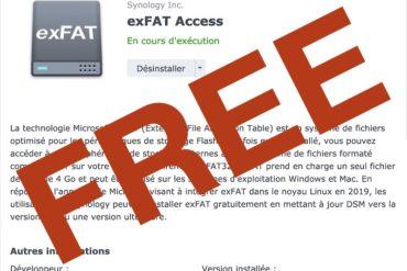 exFAT Access gratuit 370x247 - Synology DSM 7.0 - exFAT est désormais gratuit pour tous