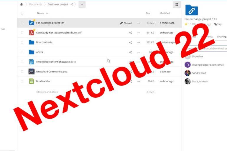 Nextcloud Hub 22 770x513 - Nextcloud Hub 22 est disponible : Outils collaboratifs, signature PDF...