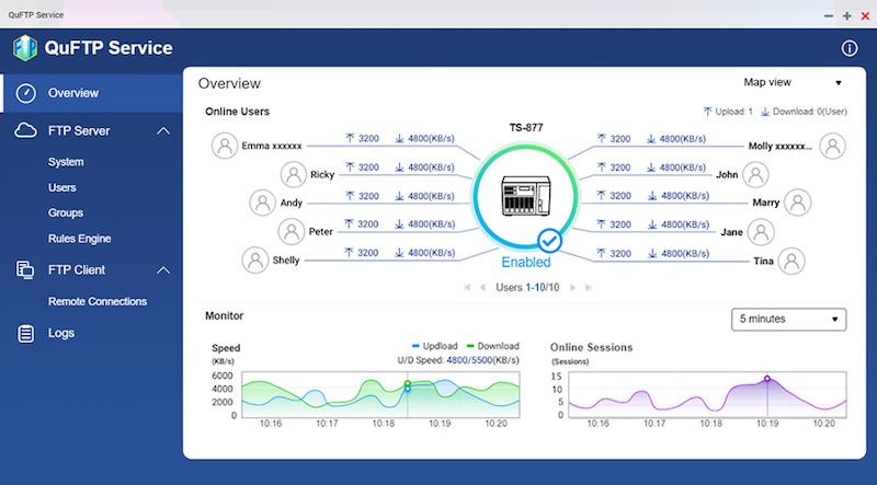 QuFTP - QNAP QTS 5.0 RC est disponible