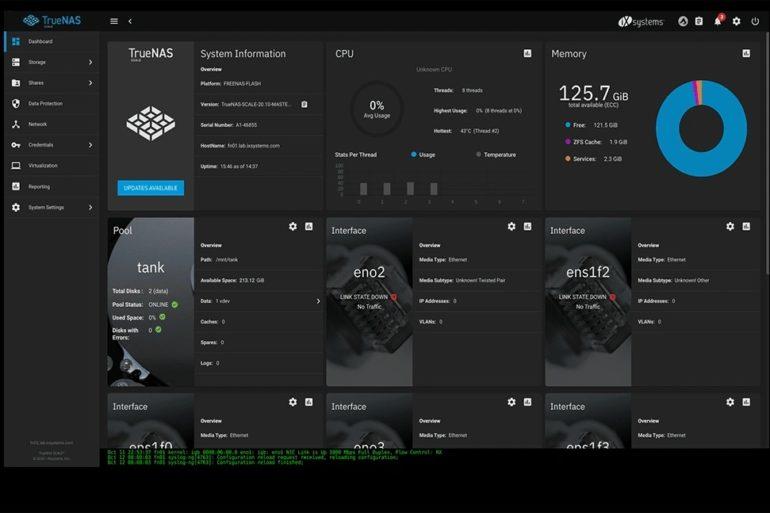 TrueNAS SCALE 770x513 - TrueNAS SCALE est disponible en BETA