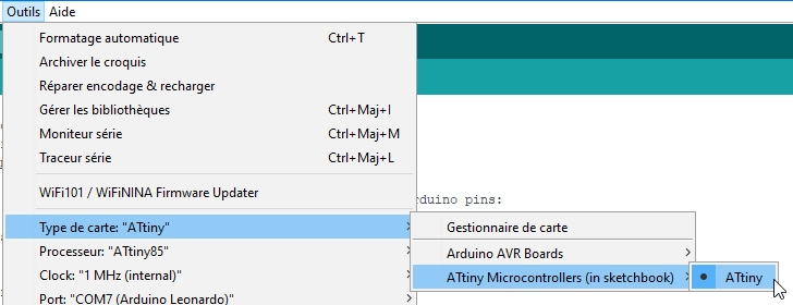 attiny85 18 - Fabriquez un programmateur pour ATtiny 85