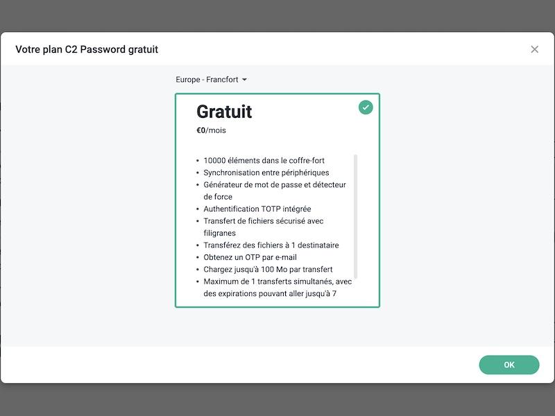 plan C2 Password - Synology C2 Password est disponible
