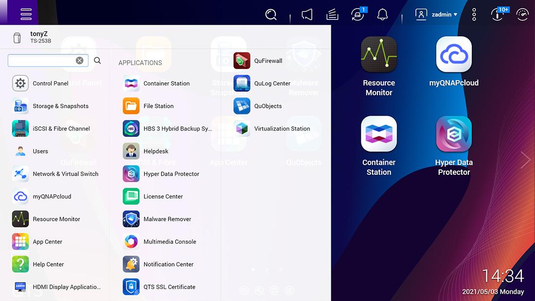 qts 5 interface - QNAP QTS 5.0 RC est disponible
