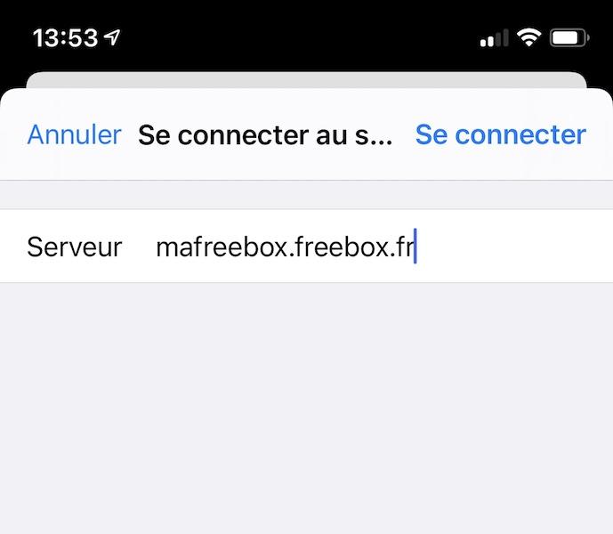 serveur ios ipadOS - Freebox - Accéder au disque dur avec un iPhone ou iPad