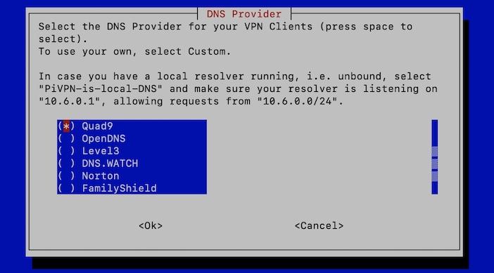 DNS client VPN - PiVPN : OpenVPN ou WireGuard sur un Raspberry Pi (Tuto)