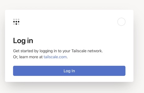 log in Taiscale - Installer Tailscale sur un NAS Synology (VPN WireGuard)
