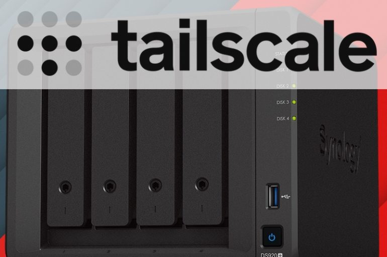 tailscale synology nas 770x513 - Installer Tailscale sur un NAS Synology (VPN WireGuard)