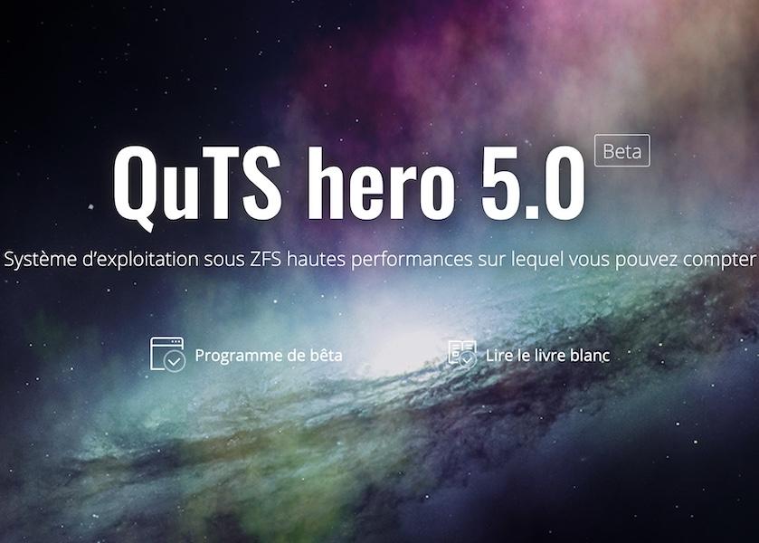 QNAP quts hero 5 - NAS : QNAP lance QuTS hero 5.0 Bêta