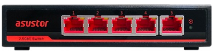 asw205t front - Asustor lance le switch ASW205T avec 5 ports 2,5 Gb/s