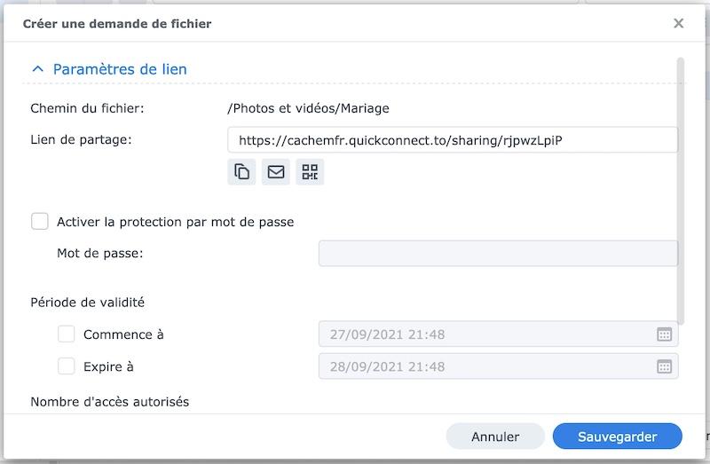 lien mariage synology - Synology - Demander des fichiers à ses amis (photo, vidéo, document...)