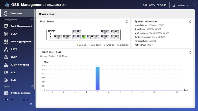 qss - QNAP QSW-IM1200-8C : nouveau switch full 10 Gb/s à 849€