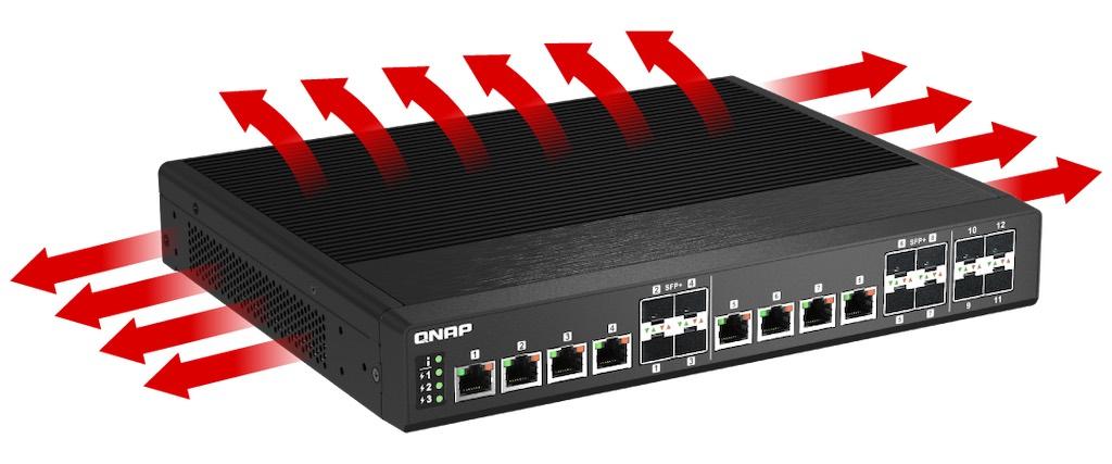 qsw im1200 8c fanless - QNAP QSW-IM1200-8C : nouveau switch full 10 Gb/s à 849€