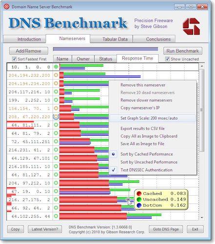 DNS Bench - Quel est le meilleur DNS ?