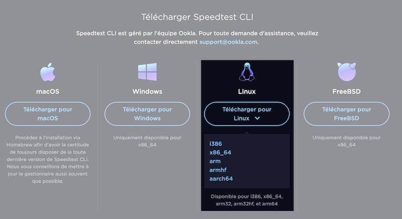 Speedtest CLI - Speedtest et NAS Synology, Asustor...